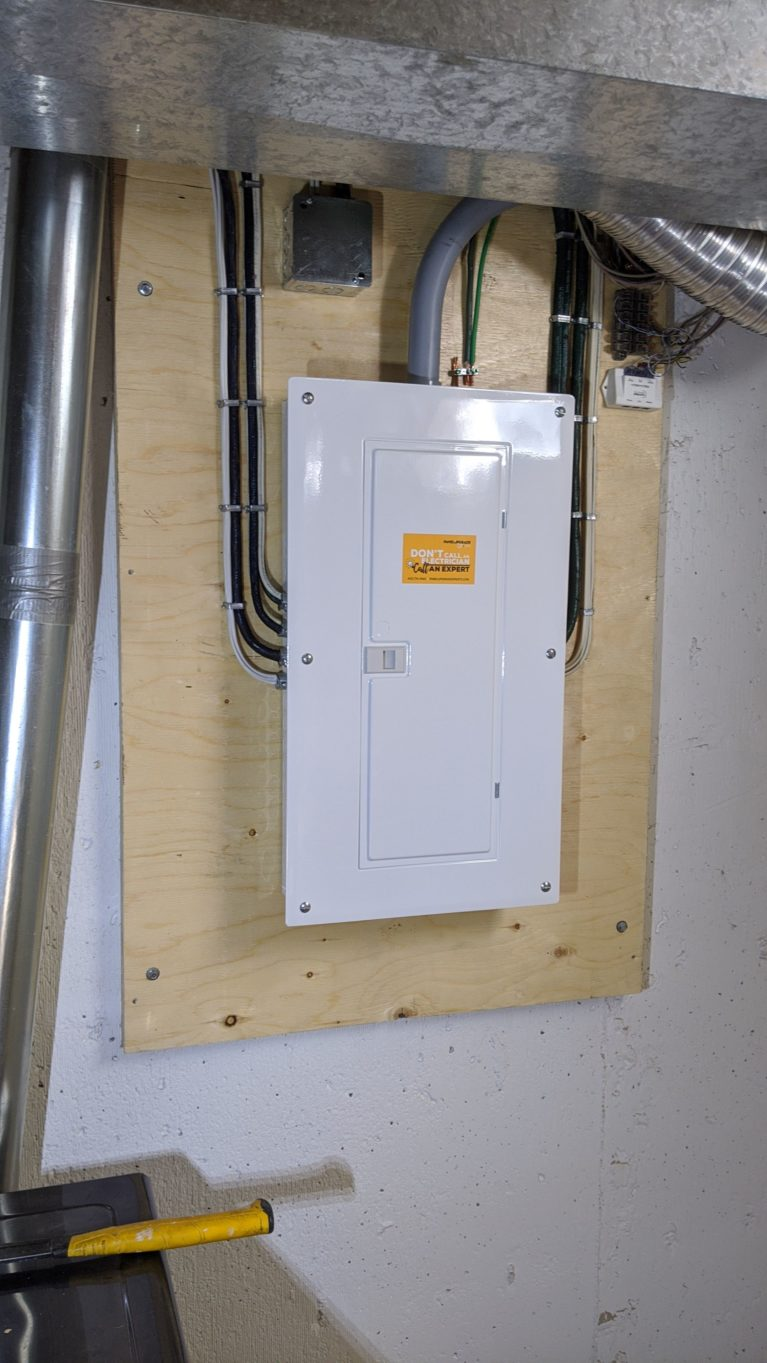 Double 100 amp Panel and Service Upgrade 1